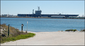 Looking South Towards Mayport Naval Station (February 19, 2007)