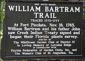 Bartram Trail Historical Marker